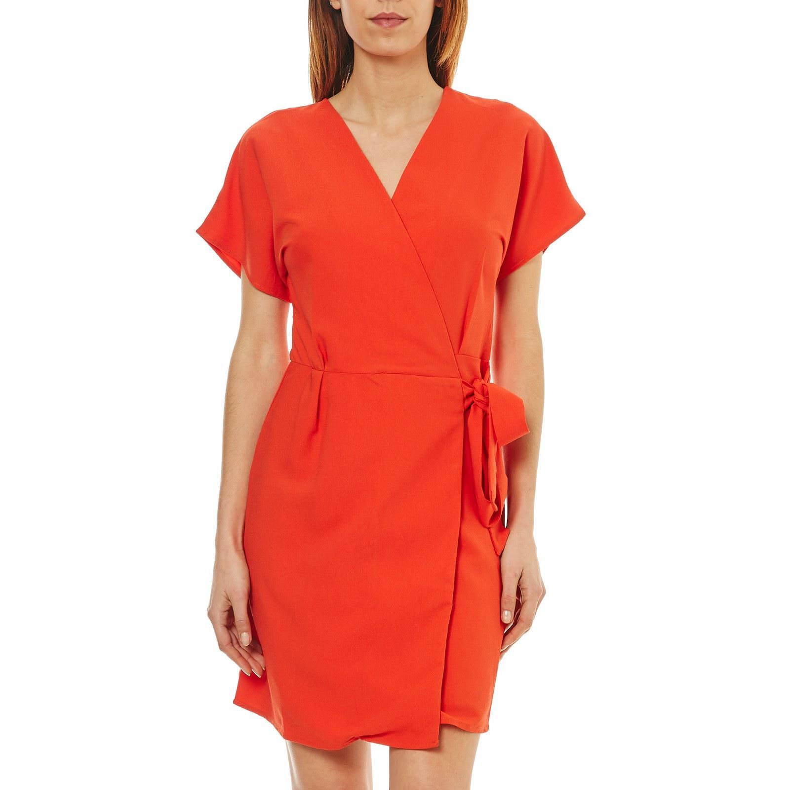 Robe portefeuille corail