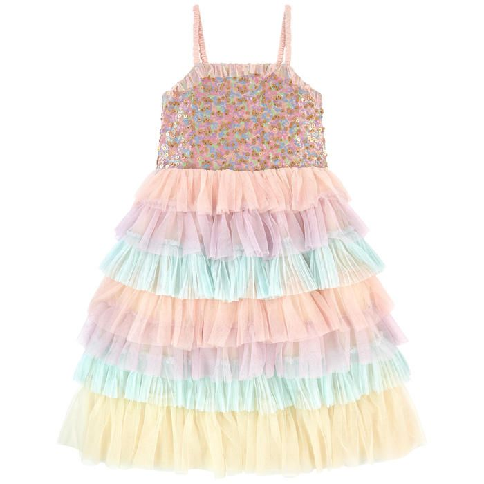 Robe a volant tulle