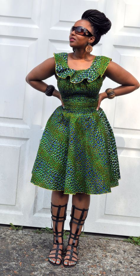 Robe africaine en pagne
