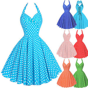 Robe année 50 turquoise